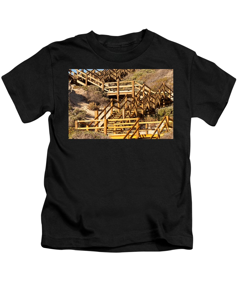 Australia Kids T-Shirt featuring the photograph Dune Steps 05 by Rick Piper Photography