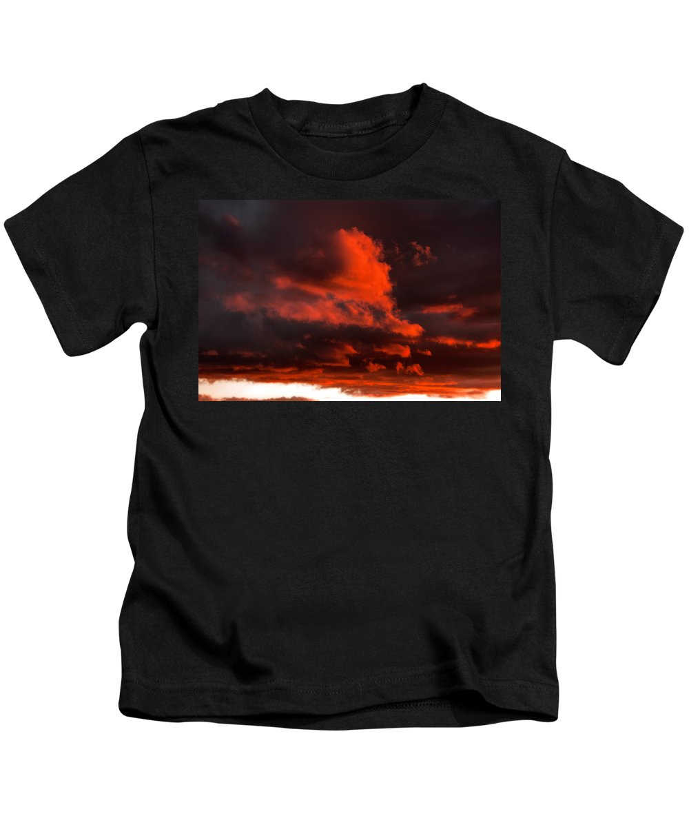 Clouds Kids T-Shirt featuring the photograph Dusk Falls On The Canyon by Joe Ownbey