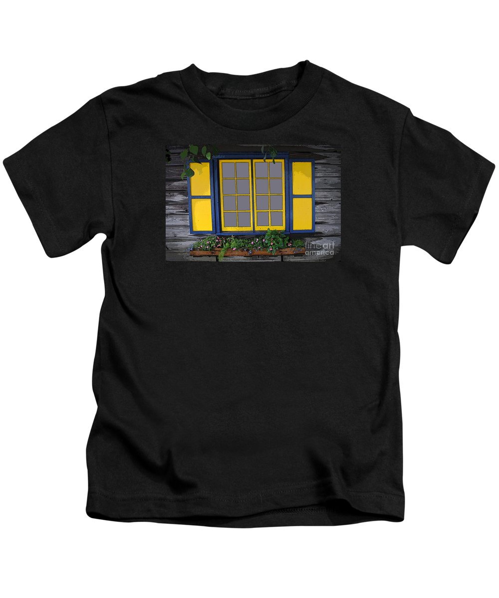 Window Kids T-Shirt featuring the photograph Dutch Window by Jost Houk