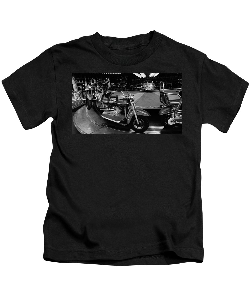Motorcycle Kids T-Shirt featuring the photograph Easy Riders by Stan Vigil