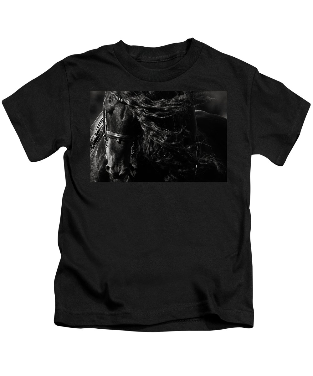 Ebony Flow Kids T-Shirt featuring the photograph Ebony Flow by Wes and Dotty Weber