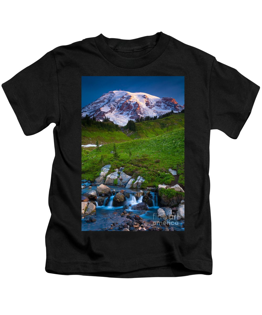 America Kids T-Shirt featuring the photograph Edith Creek by Inge Johnsson