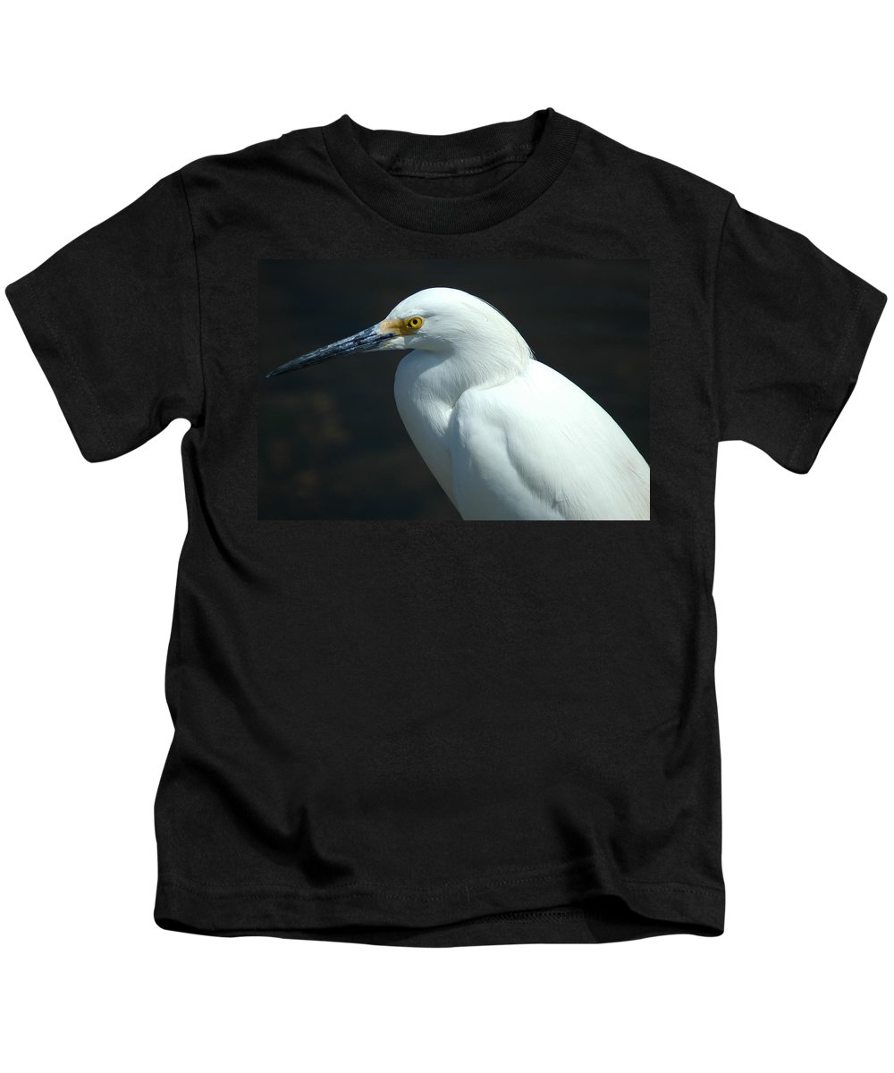 Egret Kids T-Shirt featuring the photograph Egret Of Sanibel 7 by David Weeks