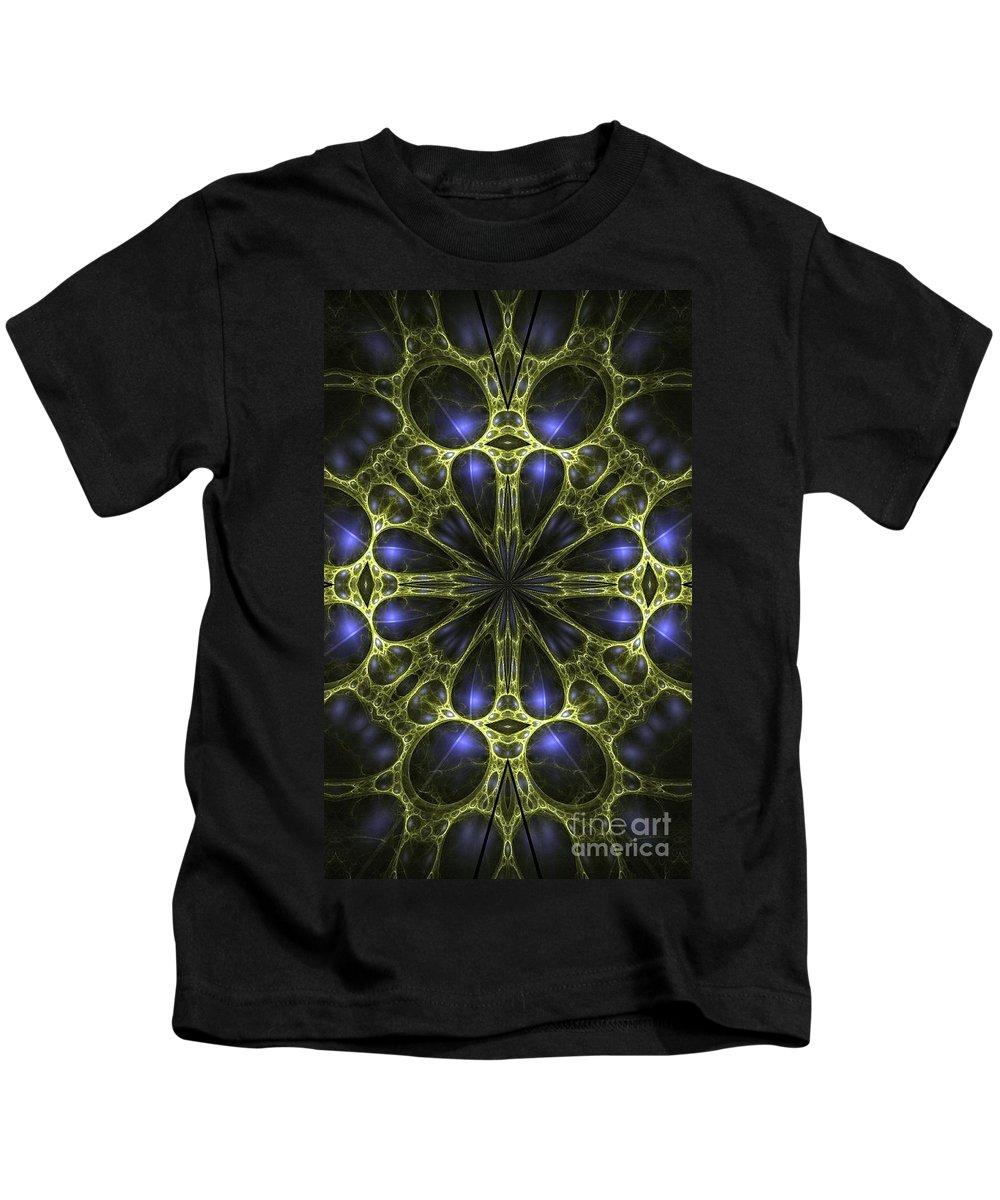Abstract Kids T-Shirt featuring the digital art Egyptian Gold by Brian Raggatt