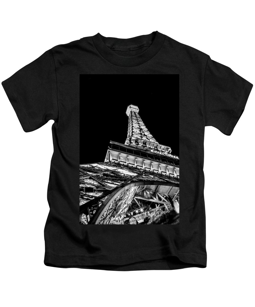 Eiffel Tower Kids T-Shirt featuring the photograph Industrial Romance by Az Jackson