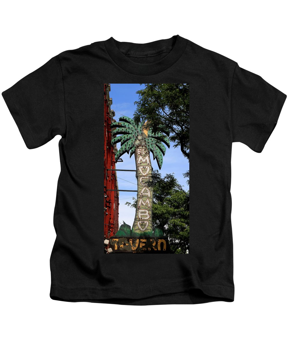 El Mo Kids T-Shirt featuring the photograph El Mocambo Tavern by Andrew Fare