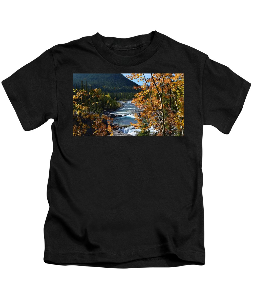 Elbow River Kids T-Shirt featuring the photograph Elbow River View by Cheryl Miller