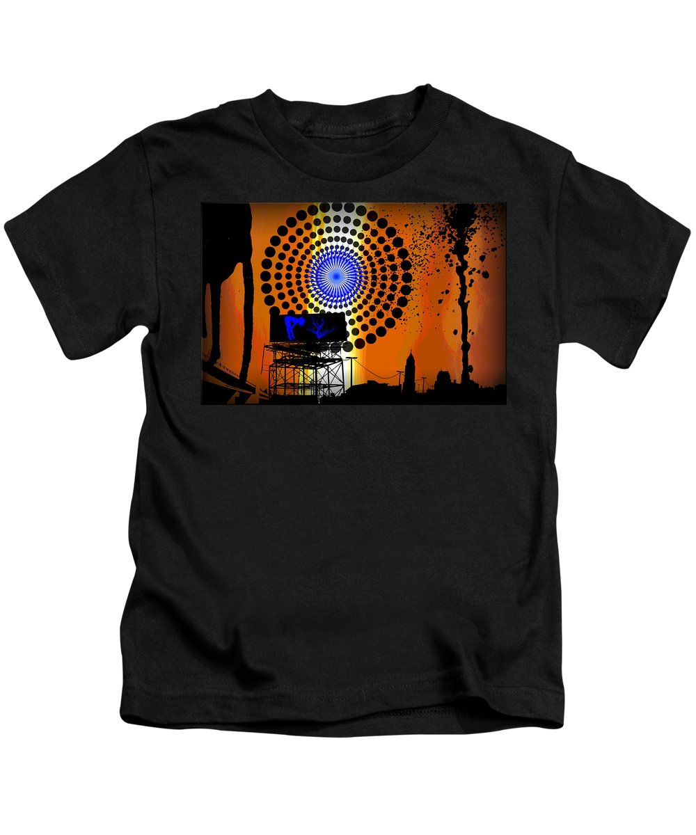 Electric Kids T-Shirt featuring the digital art Electric Avenue by Michael Damiani