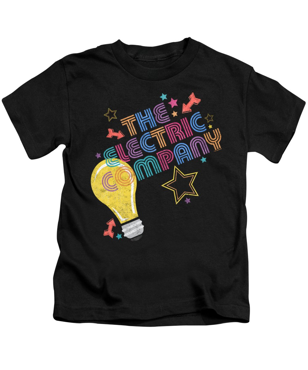 Kids T-Shirt featuring the digital art Electric Company - Electric Light by Brand A