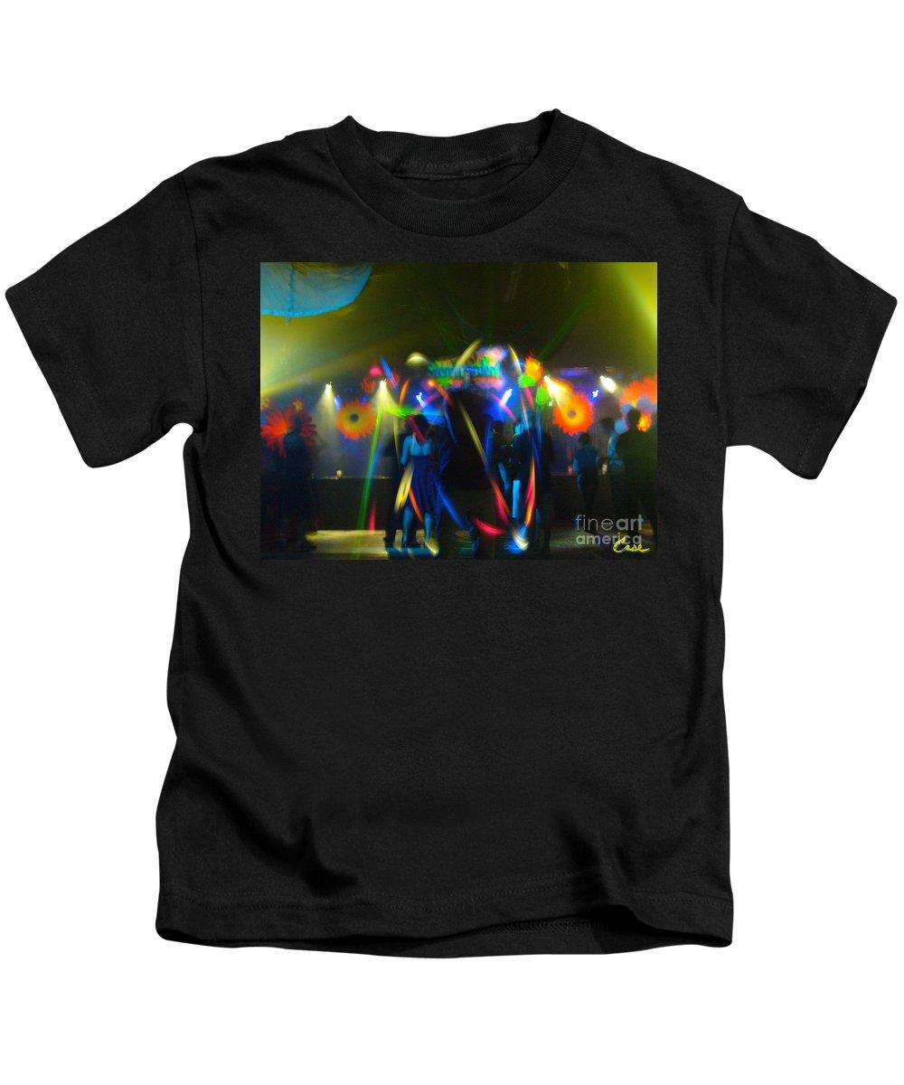 Electronic Dance Trance Kids T-Shirt featuring the photograph Electronic Dance Trance by Feile Case