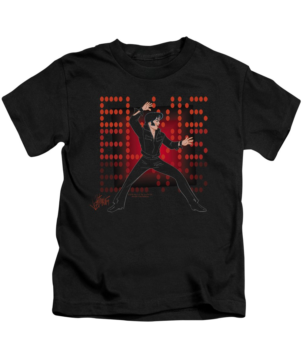 Kids T-Shirt featuring the digital art Elvis - 69 Anime by Brand A