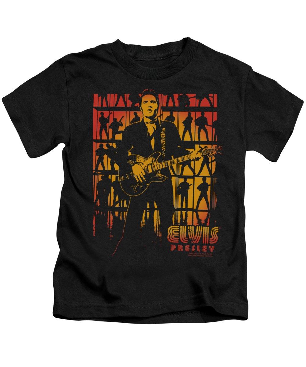 Elvis Kids T-Shirt featuring the digital art Elvis - Comeback Spotlight by Brand A