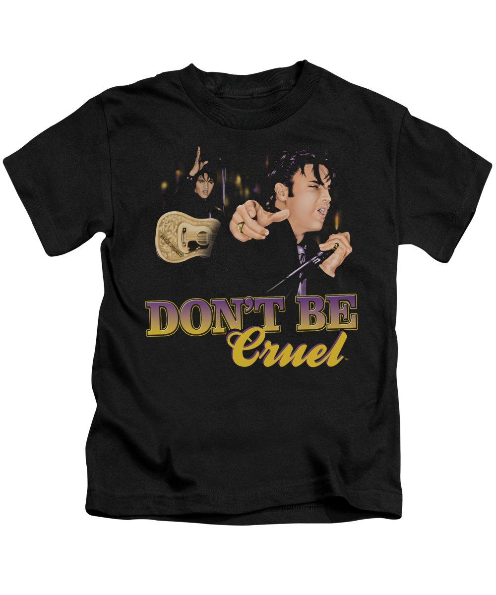 Elvis Kids T-Shirt featuring the digital art Elvis - Don't Be Cruel by Brand A