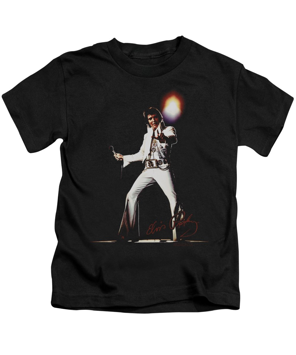 Elvis Kids T-Shirt featuring the digital art Elvis - Glorious by Brand A