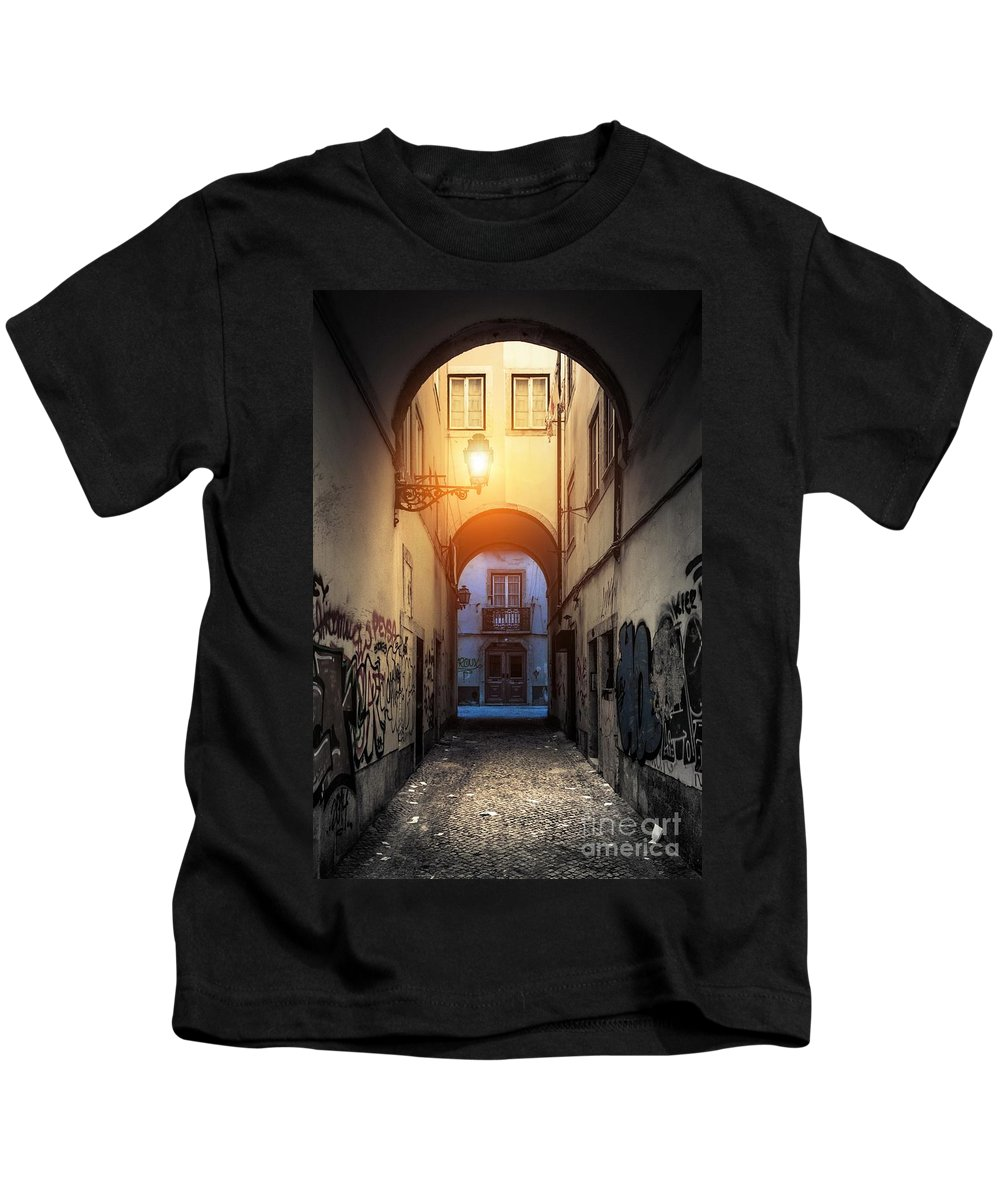 Empty Kids T-Shirt featuring the photograph Empty Alley by Carlos Caetano