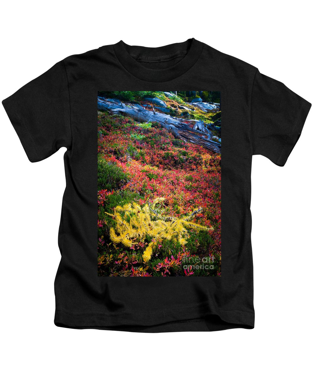 Alpine Lakes Wilderness Kids T-Shirt featuring the photograph Enchanted Colors by Inge Johnsson