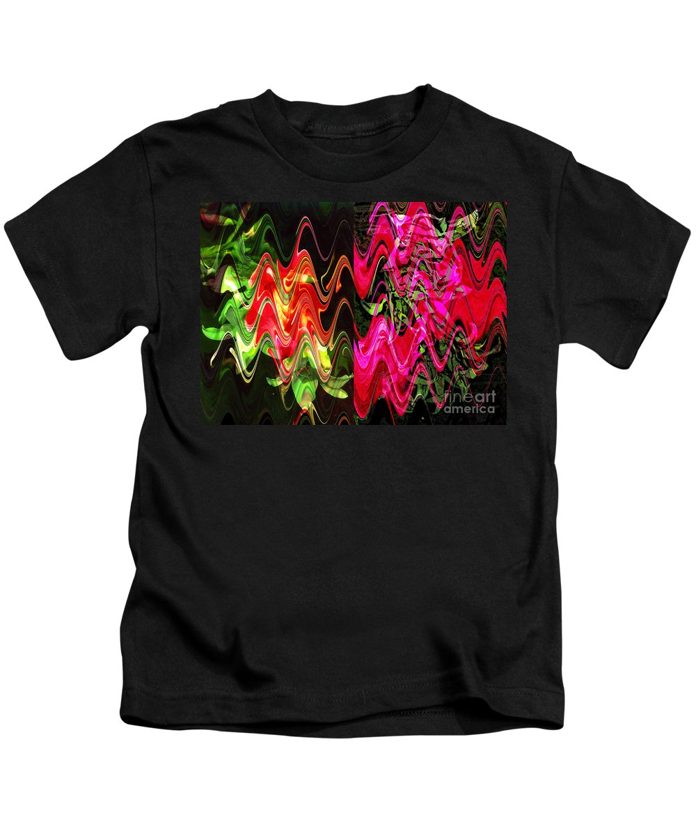 Abstract Kids T-Shirt featuring the digital art Energy by Yael VanGruber