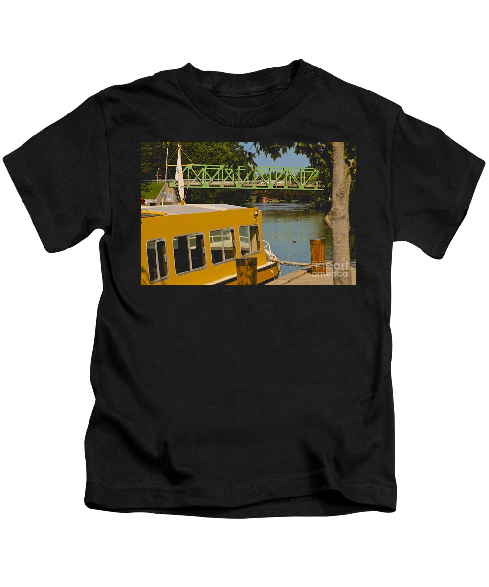 Erie Canal Kids T-Shirt featuring the photograph Erie Canal At Pittsford Ny by William Norton