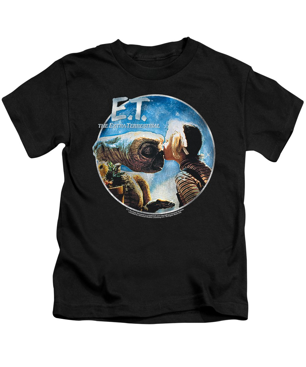 Kids T-Shirt featuring the digital art Et - Gertie Kisses by Brand A