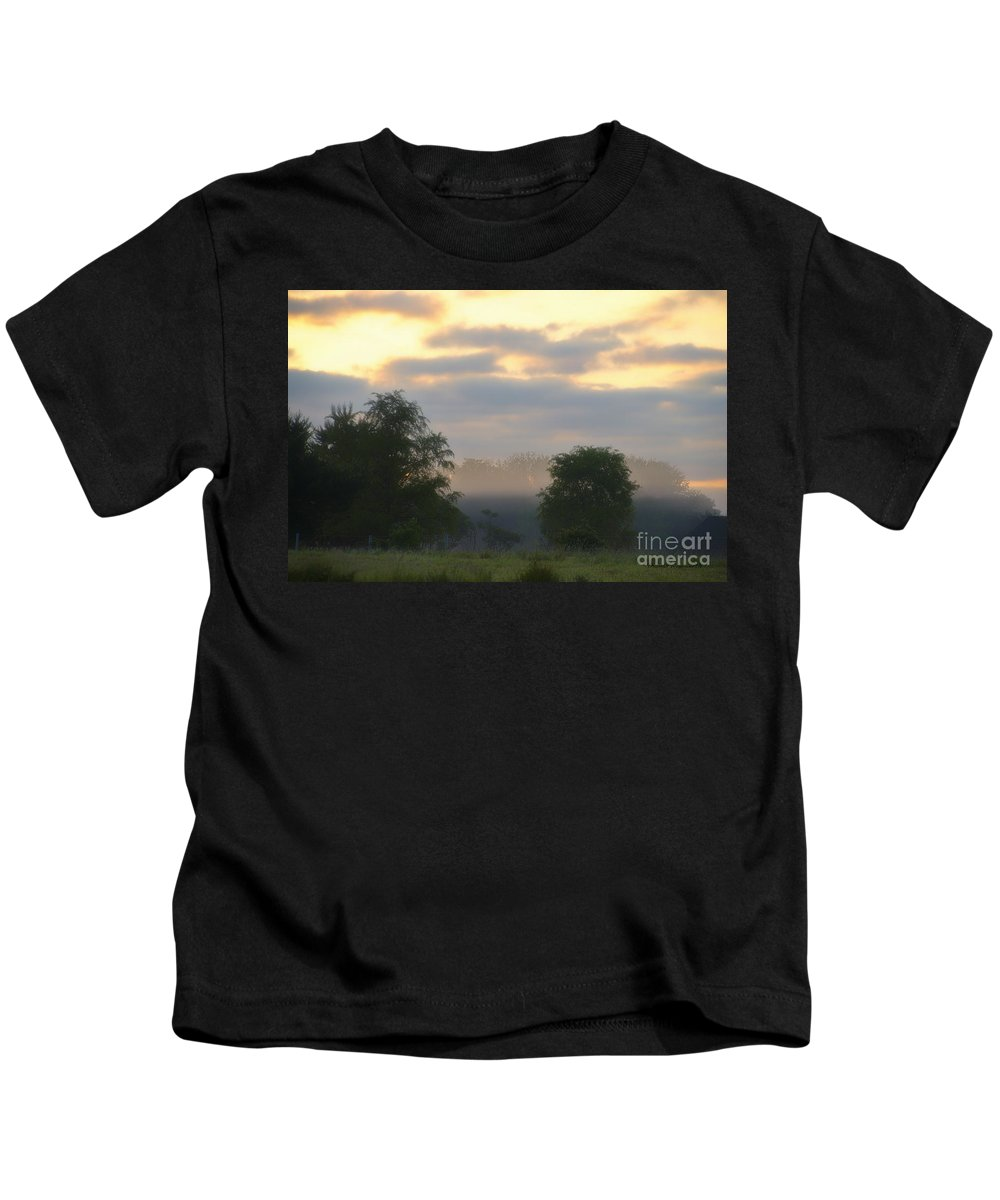 Agriculture Kids T-Shirt featuring the photograph Evaporation by Thomas Woolworth