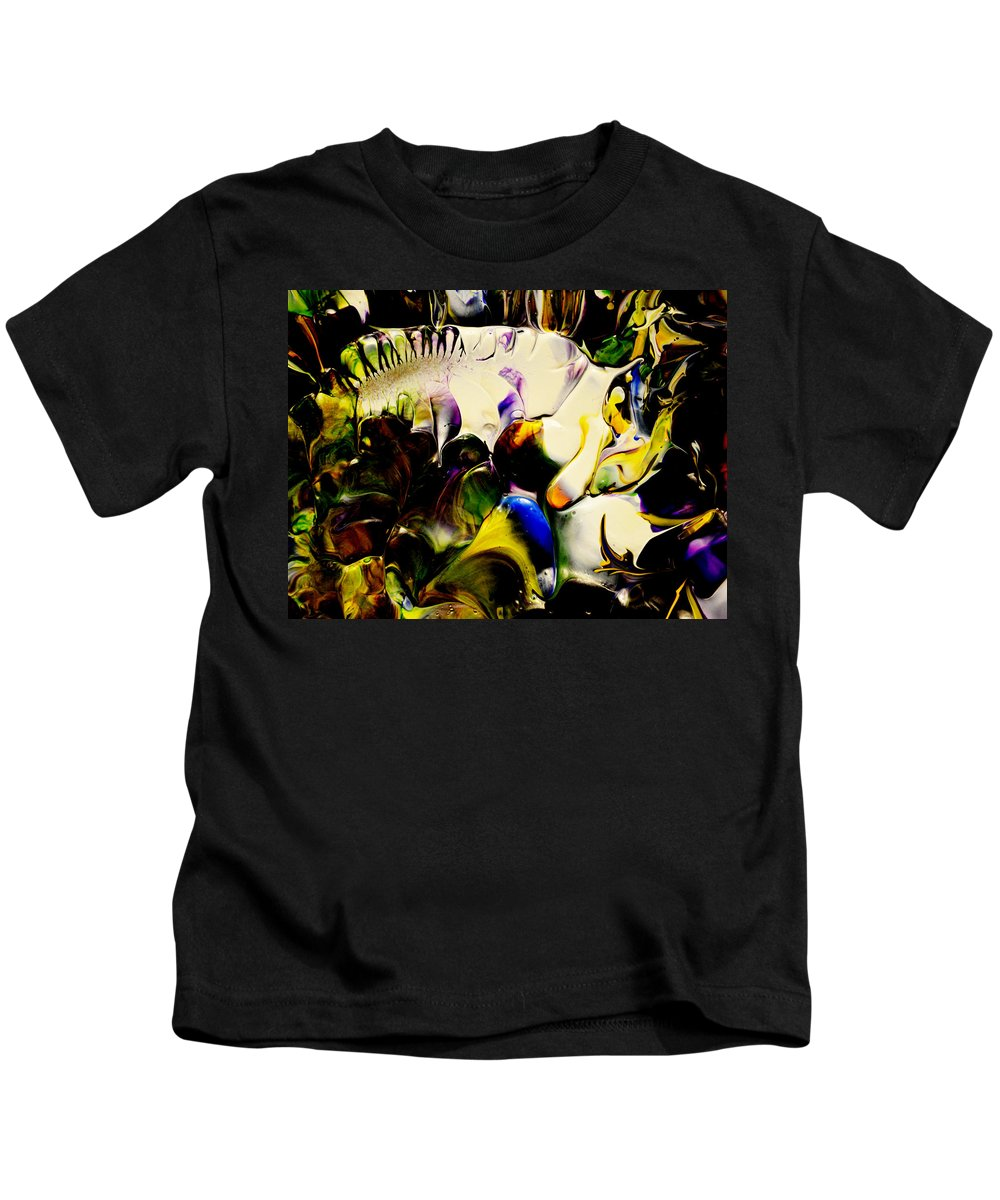 Abstract Kids T-Shirt featuring the painting Botanical # 1213 by Antonia Lazaki