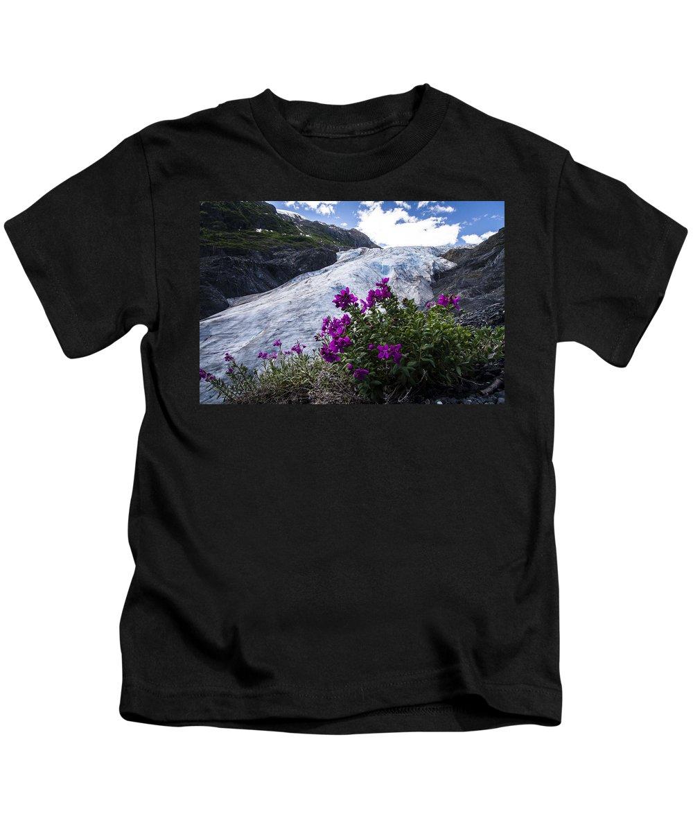 Alaska Kids T-Shirt featuring the photograph Exit Glacier by Kyle Lavey