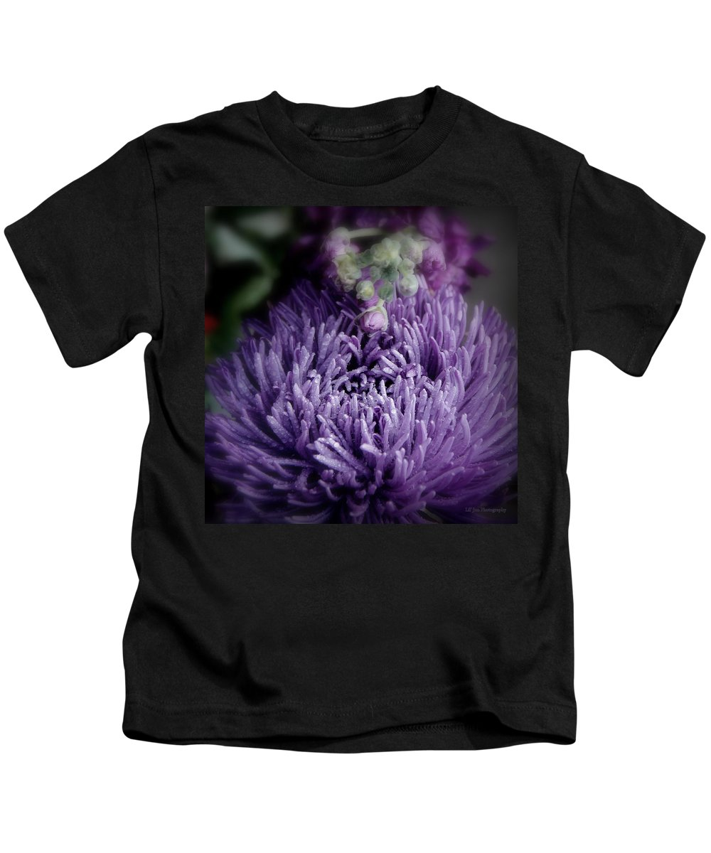 Exotic Purple Flower Kids T-Shirt featuring the photograph Exotic Purple Flower Two by Jeanette C Landstrom