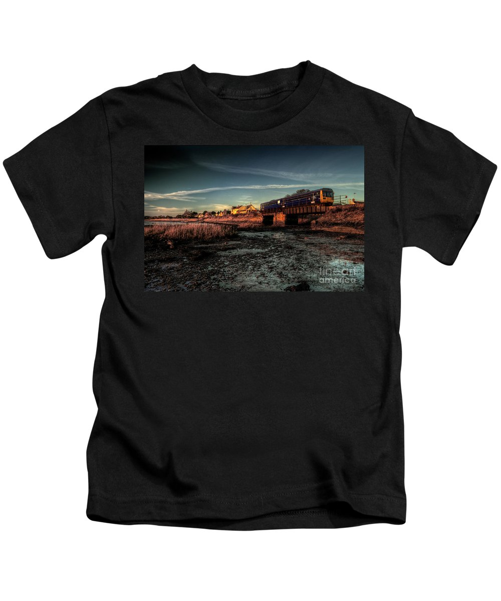Exton Kids T-Shirt featuring the photograph Exton On The Exe by Rob Hawkins