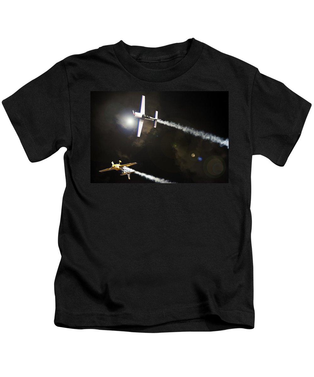 Extra 300 Kids T-Shirt featuring the photograph Extra Light by Paul Job