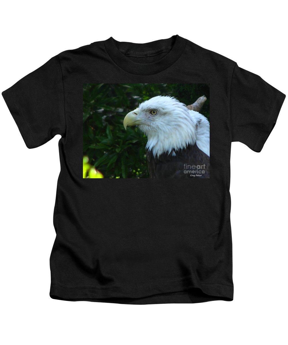 Eagle Kids T-Shirt featuring the photograph Eyecon by Greg Patzer