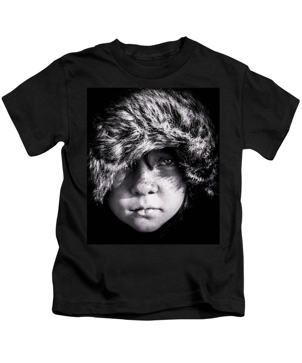 Portrait Kids T-Shirt featuring the photograph Eyes On Stun by Ryan Dove