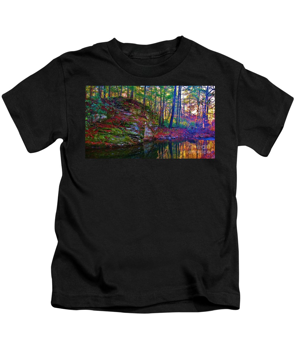 Kerisart Kids T-Shirt featuring the photograph Fairyland Forest by Keri West