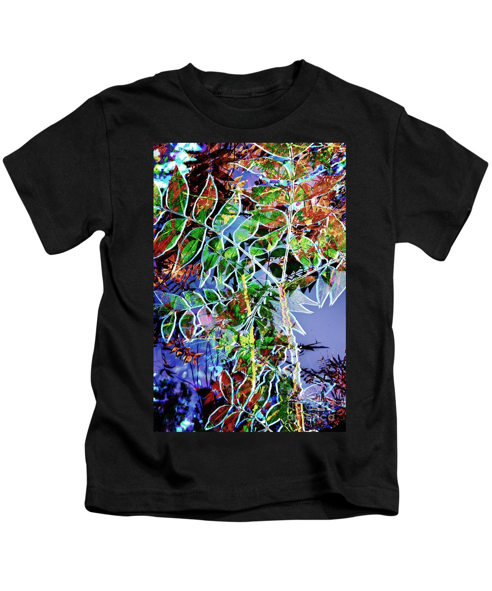 Fall Colors Kids T-Shirt featuring the digital art Fall Color Collage by Georgianne Giese