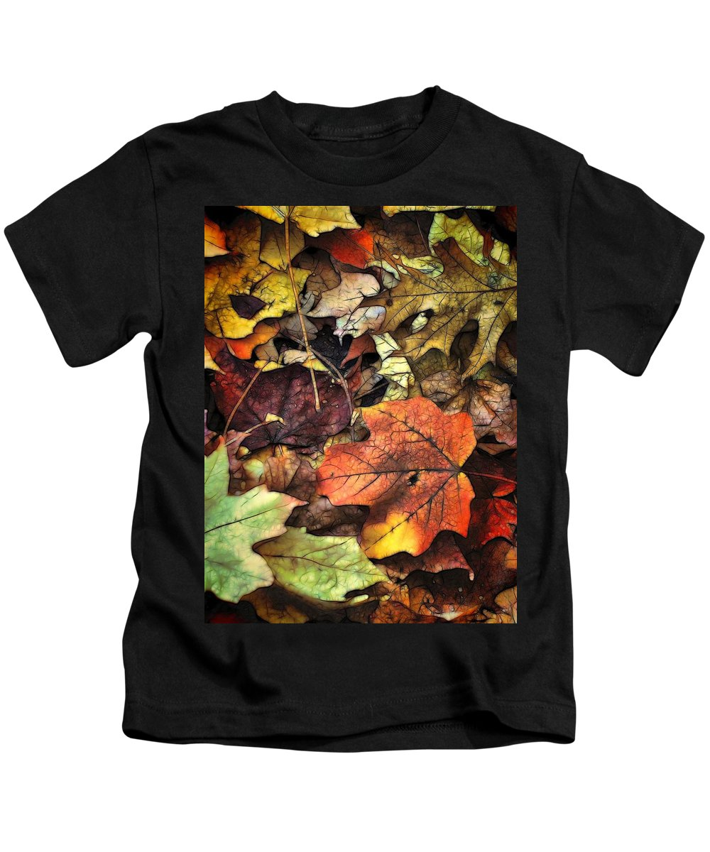 Leaf Kids T-Shirt featuring the photograph Fall Colors by Lyle Hatch