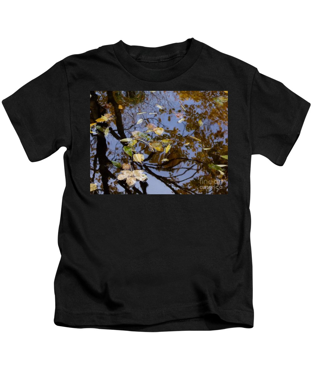 A Collection Of Images In The Lake Kids T-Shirt featuring the photograph Fall In The Lake In Vienna No. 1 by Nili Tochner