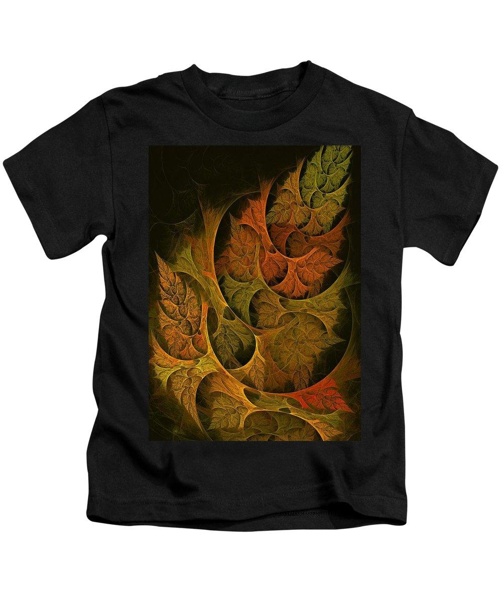Fall Kids T-Shirt featuring the digital art Fall Transitions by Doug Morgan