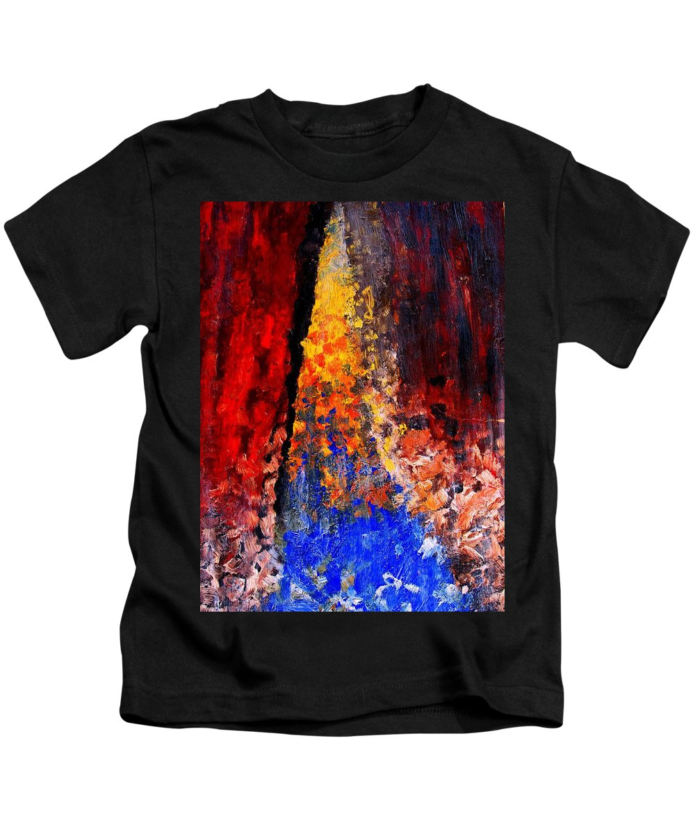 Abstract Kids T-Shirt featuring the painting Falling by Ian MacDonald