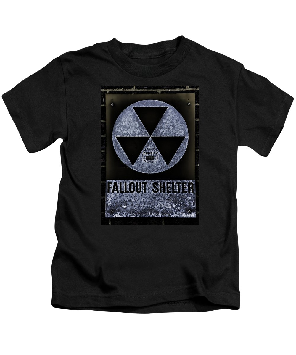 Fallout Kids T-Shirt featuring the photograph Fallout Shelter Wall 5 by Stephen Stookey