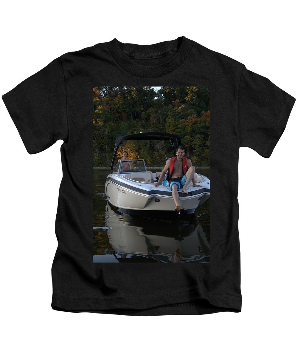 Lake Kids T-Shirt featuring the photograph Family Outing IIi by Artistic Explorer Creations By Gregg L Walker