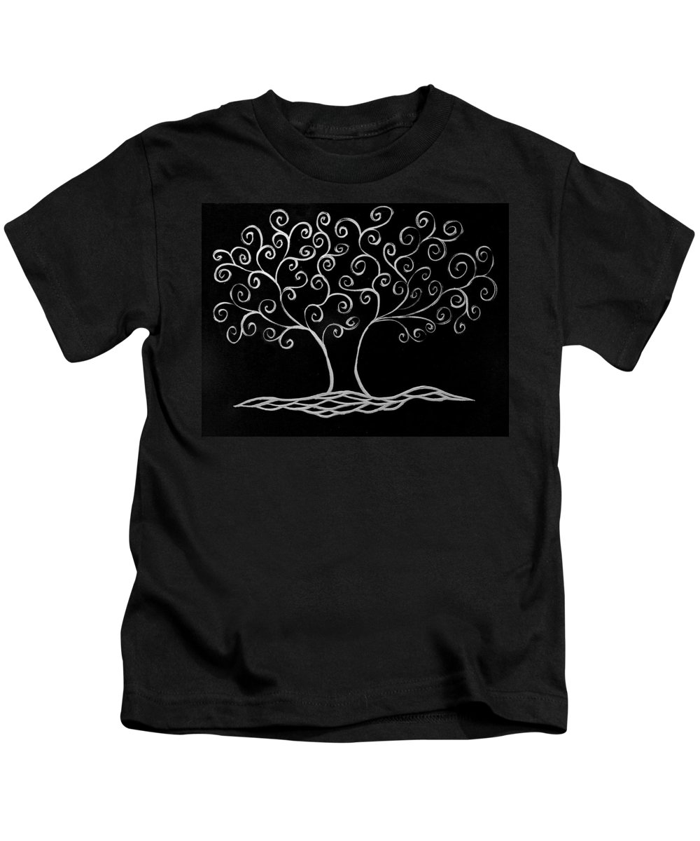 Tree Kids T-Shirt featuring the painting Family Tree by Jamie Lynn