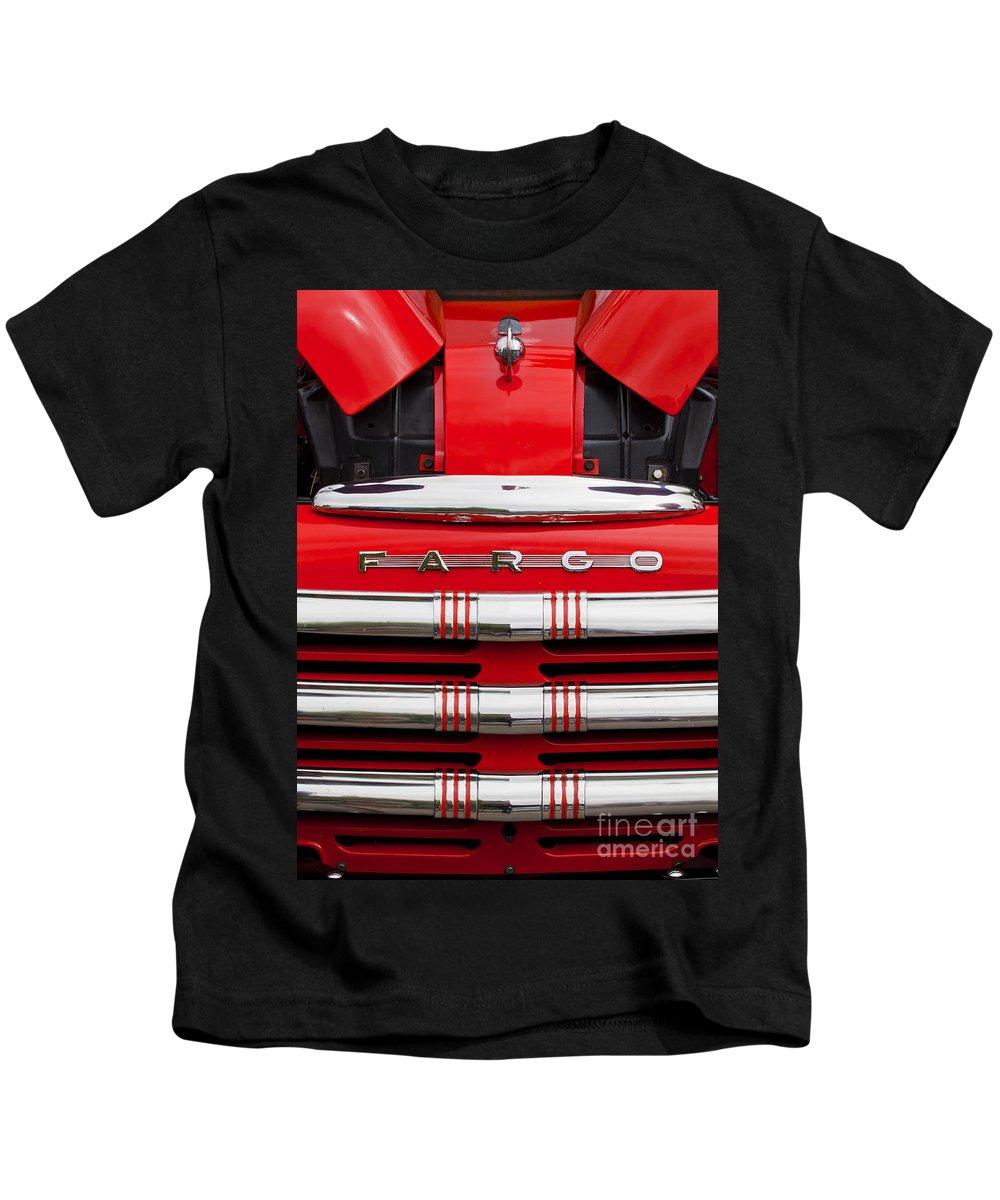 Fargo Kids T-Shirt featuring the photograph Fargo by Chris Dutton