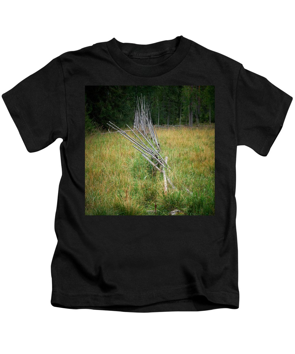 Finland Kids T-Shirt featuring the photograph Fence by Jouko Lehto