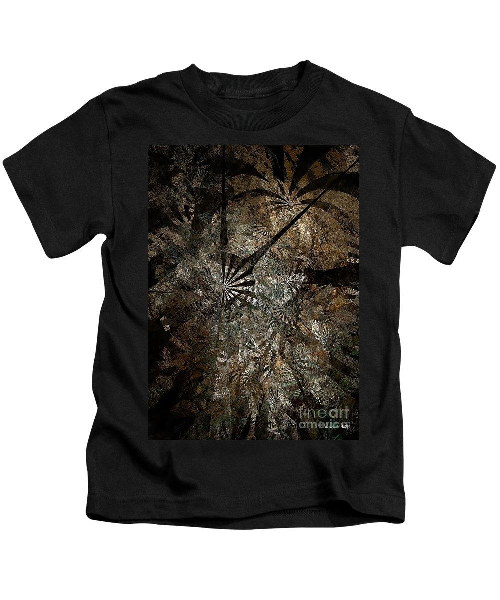 Abstract Kids T-Shirt featuring the digital art Ferns 437-08-13 Marucii by Marek Lutek