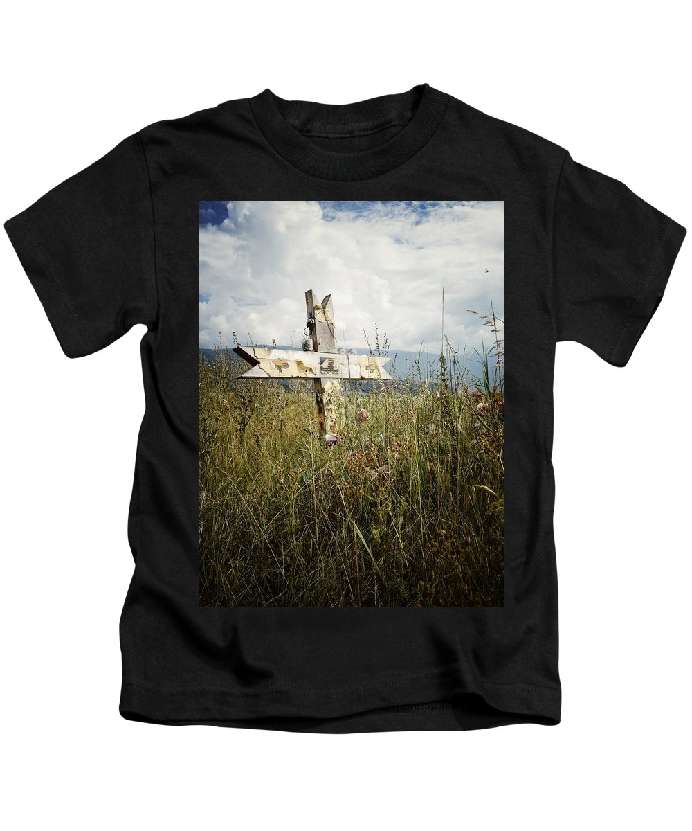 Graveyard Kids T-Shirt featuring the photograph Field Of Faith B by The Artist Project