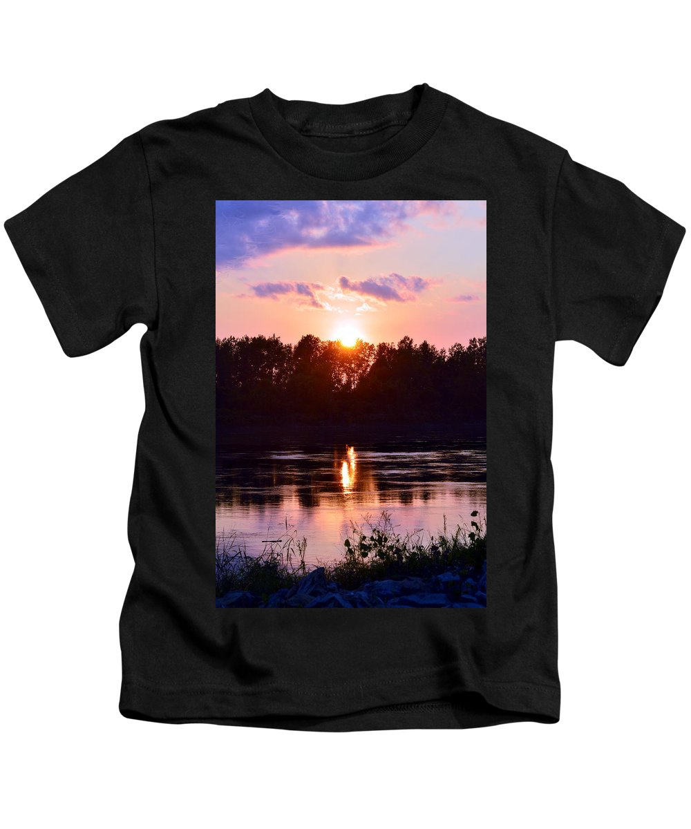 Kids T-Shirt featuring the photograph Fire Water by Kim Blaylock