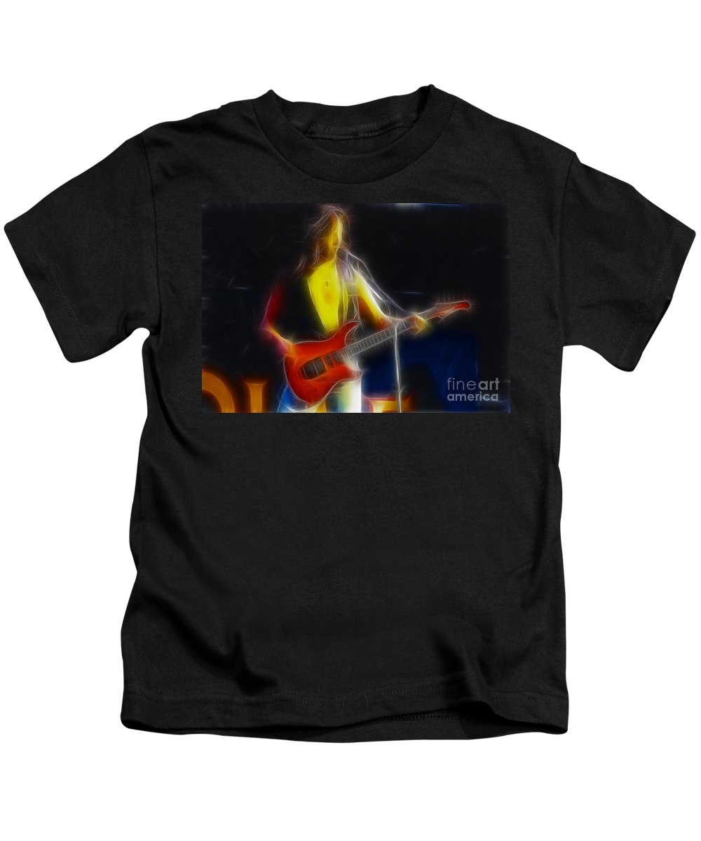 Firehouse Kids T-Shirt featuring the photograph Firehouse-ga10a-fractal by Gary Gingrich Galleries