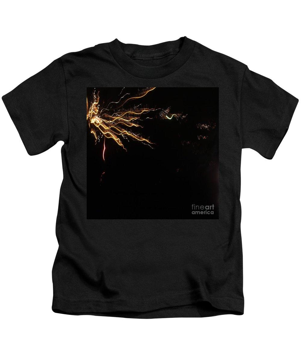 Fireworks Kids T-Shirt featuring the photograph Splash Of Light. Square. by Ausra Huntington nee Paulauskaite