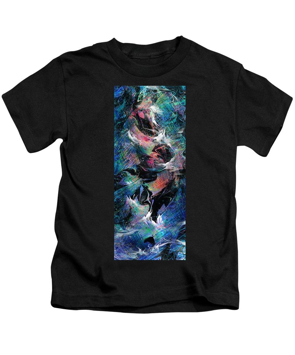Fish Kids T-Shirt featuring the digital art Shark Tank by Rachel Christine Nowicki