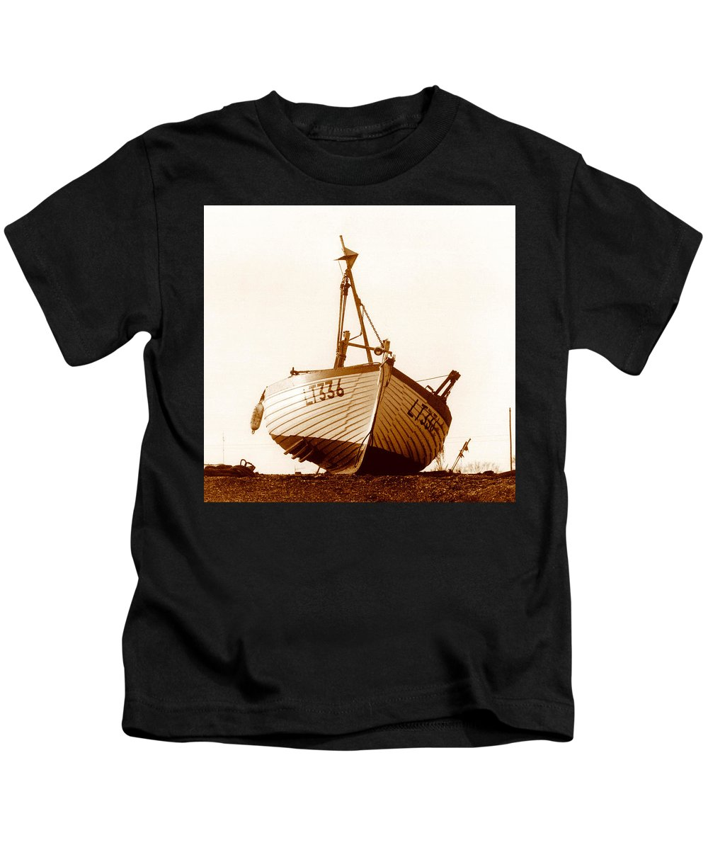 Fishing Boat Kids T-Shirt featuring the photograph Fishing Boat by Peter Mooyman