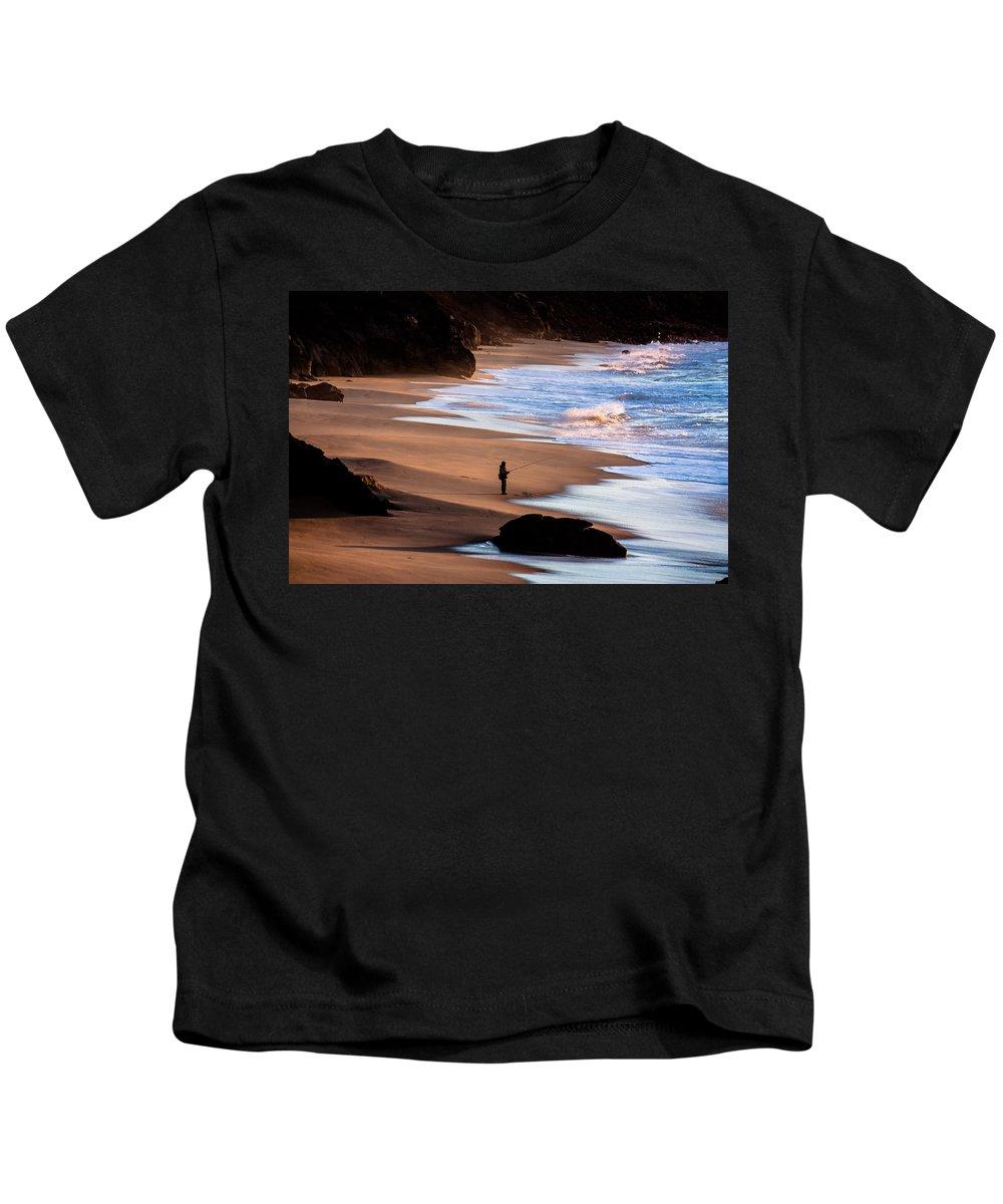 Fishing Kids T-Shirt featuring the photograph Fishing by Edgar Laureano
